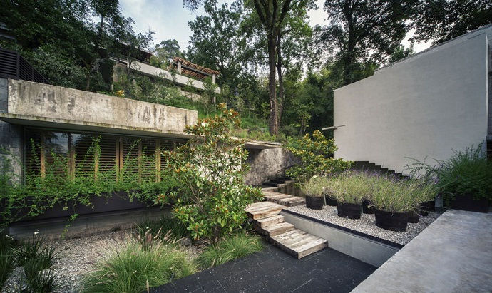 stairs MZ House by CHK Arquitectura-Modern Mansion in the Green Heaven