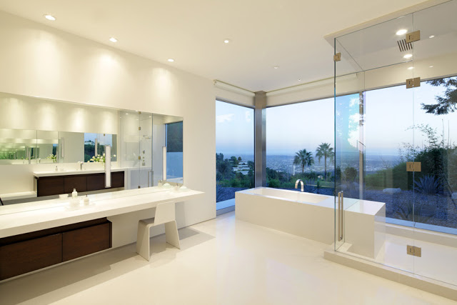 white stark with the eames chair Minimalist Modern Dream Home Materialized in Beverly Hills, California homesthetics modern mansion
