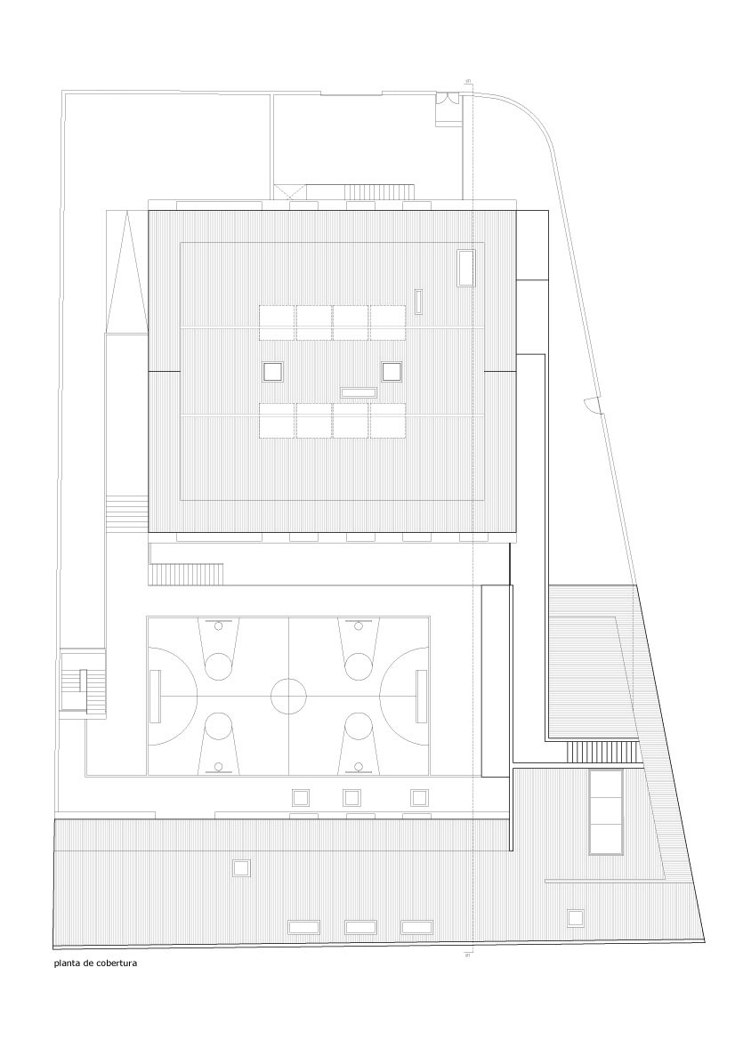 blueprint floor plan Minimalist-Private-College-Designed-by-OVAL-Exudes-Contemporary-Style