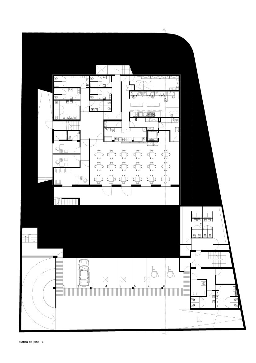 floor plan blueprint Minimalist-Private-College-Designed-by-OVAL-Exudes-Contemporary-Style