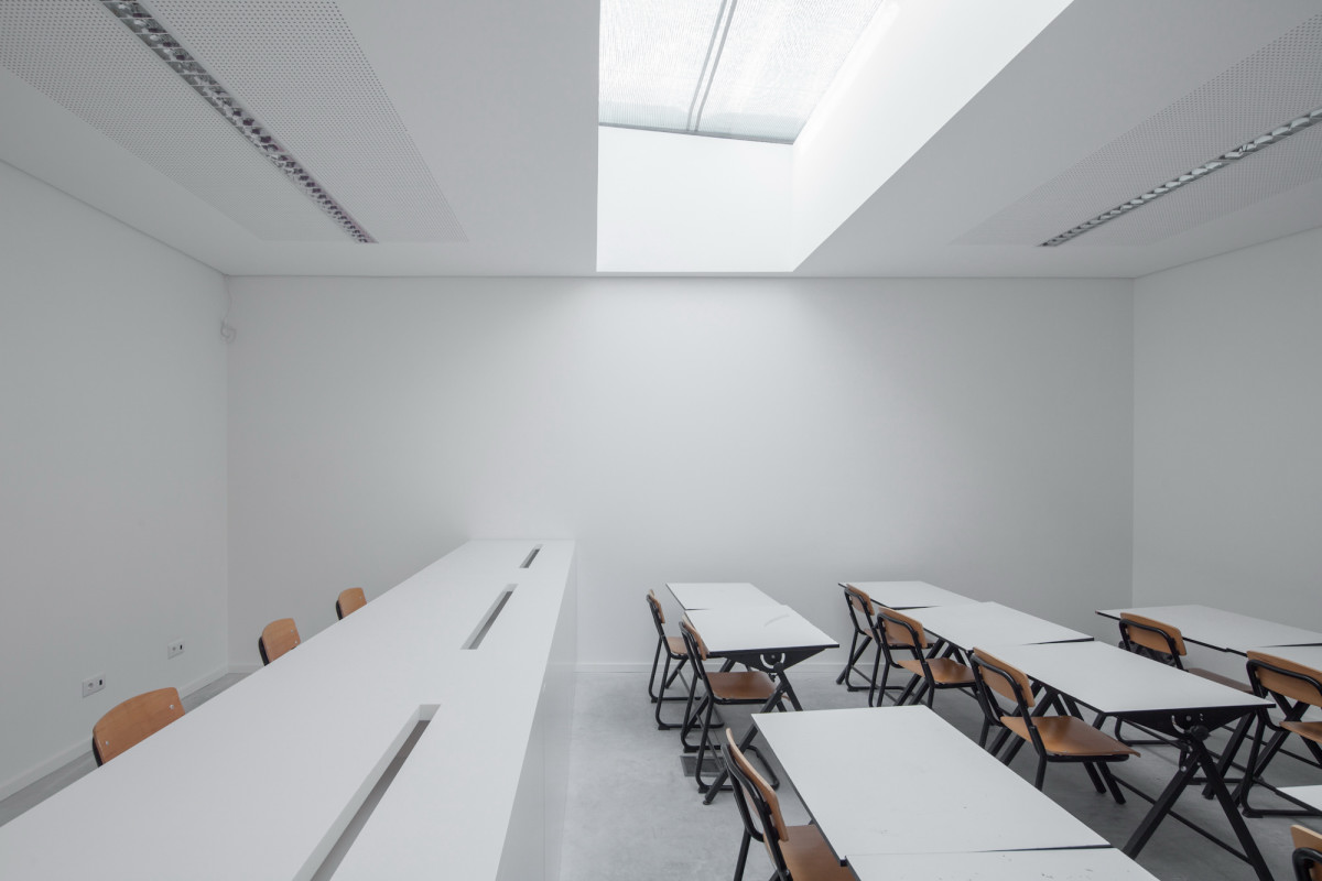 Minimalist Classroom Activities ~ Minimalist private college designed by oval exudes