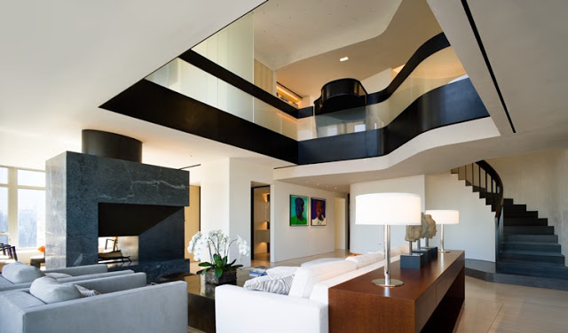 modern central park west penthouse duplex in manhattan new york by