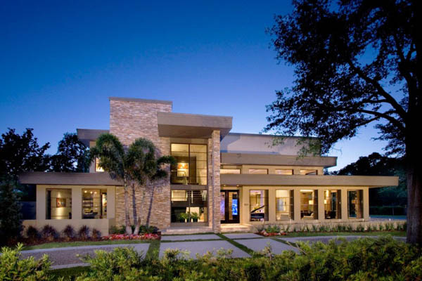 Modern dream home located in winter park by phil kean design group