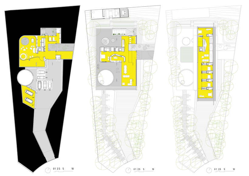 floor plans blueprints Modern-Dream-House-mansion-with-Imposing-Cantilever-by-Clavel-Arquitectos
