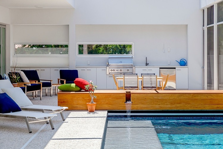 swimming pool area Modern-Impeccable-Dream-Florida-Mansion-by-Office-for-Architecture-modern-mansion
