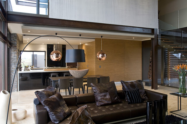 living room interior design Modern Jewel Between South African Mansions - Serengeti Houseby Nico van der Meulen Architects