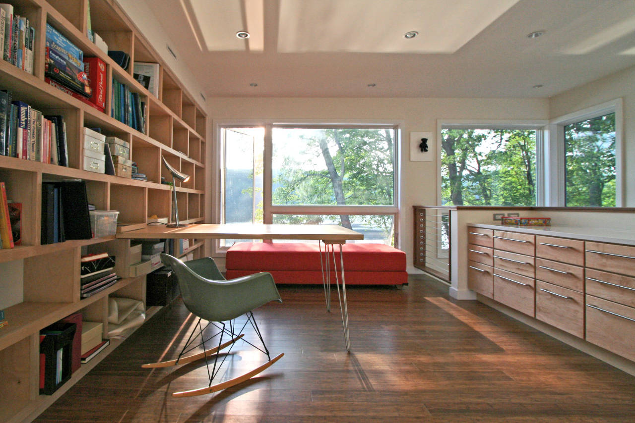 Extraordinary small library design Modern-Lake-Retreat-Mansion-in-New-Jersey-by-RES4-homesthetics
