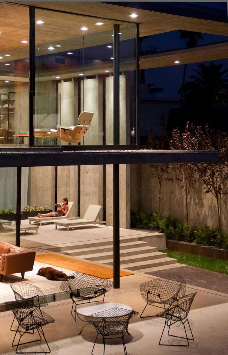 view from the living room Modern Mansion Featuring Exposed Concrete - Cresta Residence in San Diego, California, USA