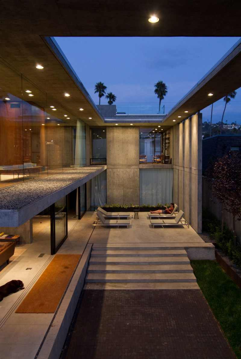 huge exterior room in exposed concrete Modern Mansion Featuring Exposed Concrete - Cresta Residence in San Diego, California, USA