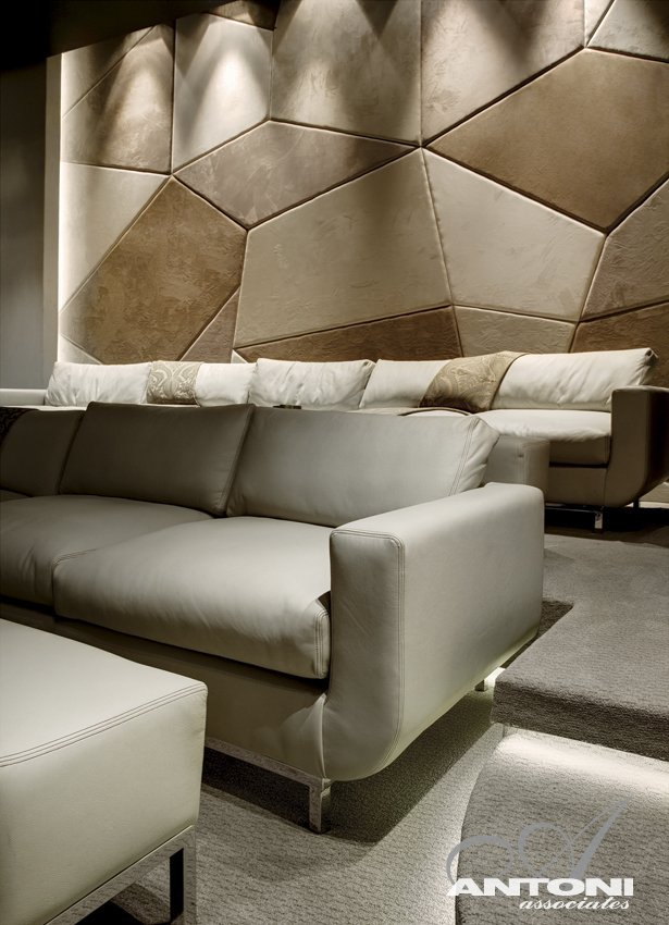 detail shot living room interior design Modern Residence on Head Road 1843 by Antoni Associates in Cape Town