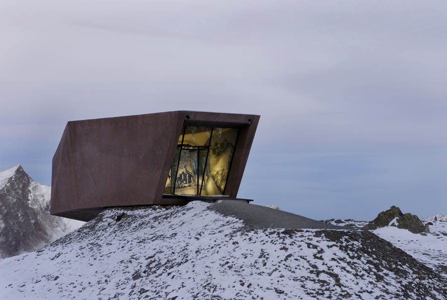 Pass Museum in Tyrol:Tribute Sculpture by Werner Tscholl Architects solotary