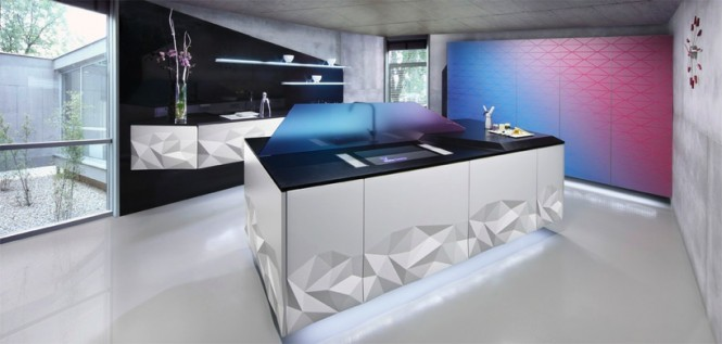Polyhedral Modern Design Materialized in Artica Kitchen by Estudiosat homesthetics