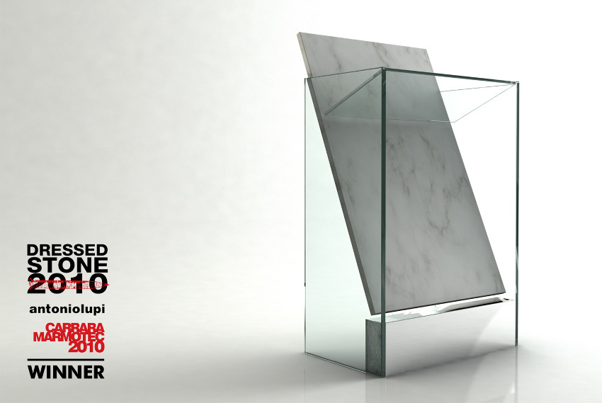 futuristic glass sink Red Black and White Modern Bathroom Collection by Claudia Danelon and Frederico Meroni  homesthetics (23)