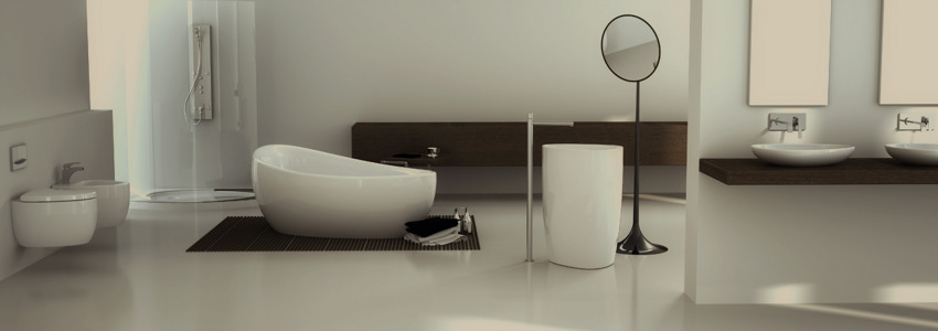 sculptural bathtub Red Black and White Modern Bathroom Collection by Claudia Danelon and Frederico Meroni  homesthetics (23)