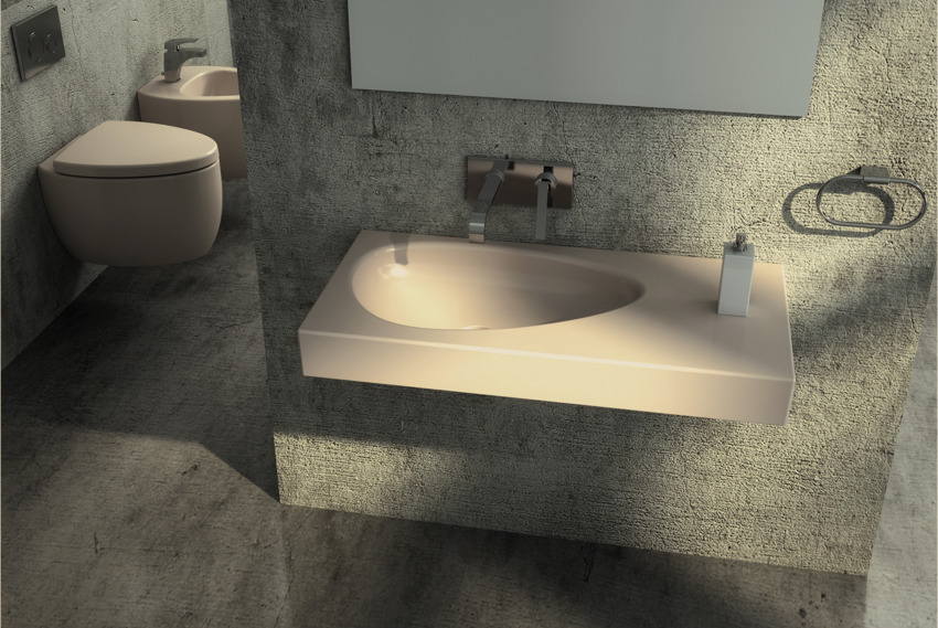 sculptural sink Red Black and White Modern Bathroom Collection by Claudia Danelon and Frederico Meroni  homesthetics (23)