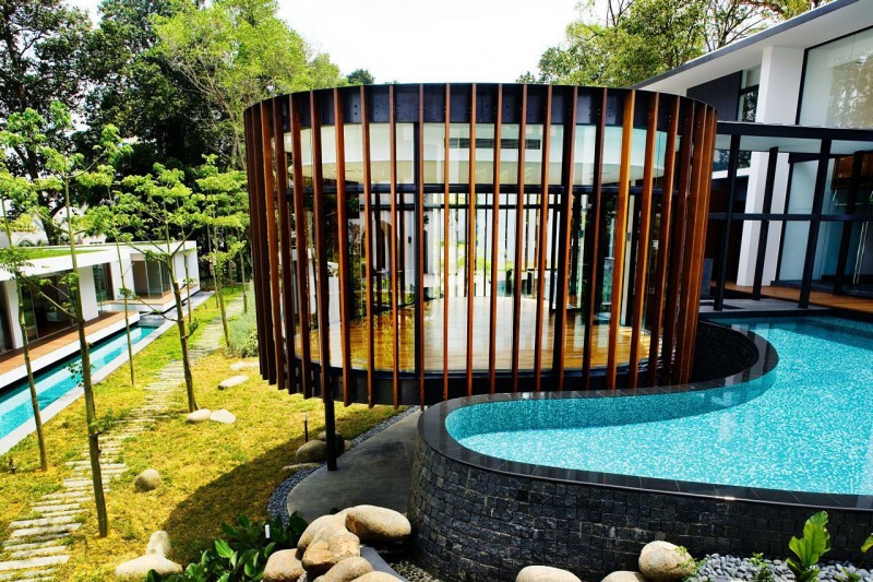 Screen House by K2LD Architects Exotic Modern Mansion in Singapore