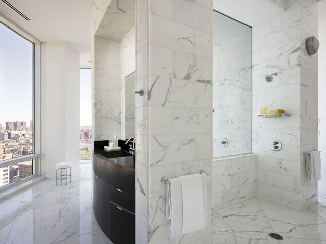 marble bathroom design Sculpture-For-Living-Duplex-Penthouse-Located-in-Astor-Place-New-York-homesthetics-modern-mansion