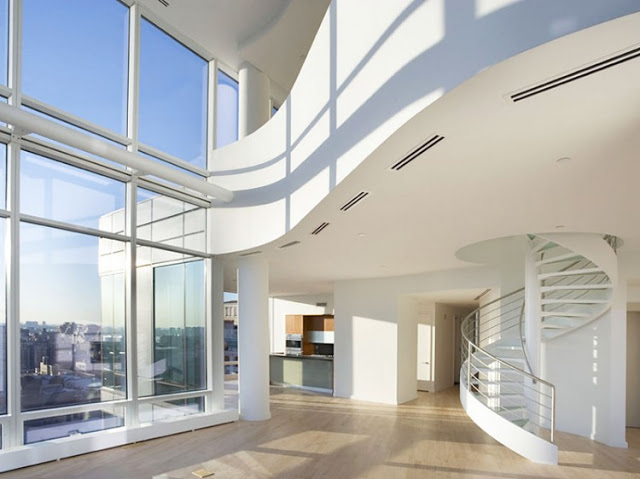 interior design of the Sculpture-For-Living-Duplex-Penthouse-Located-in-Astor-Place-New-York-homesthetics-modern-mansion