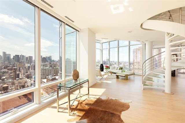 expansive views Sculpture-For-Living-Duplex-Penthouse-Located-in-Astor-Place-New-York-homesthetics-modern-mansion