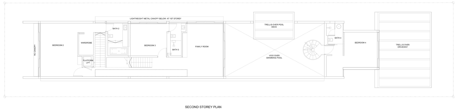 groundfloor floor plan blueprint of Slim Luxurious Dream Home Envisioned by Hyla Architects in Singapore homesthetics (1)