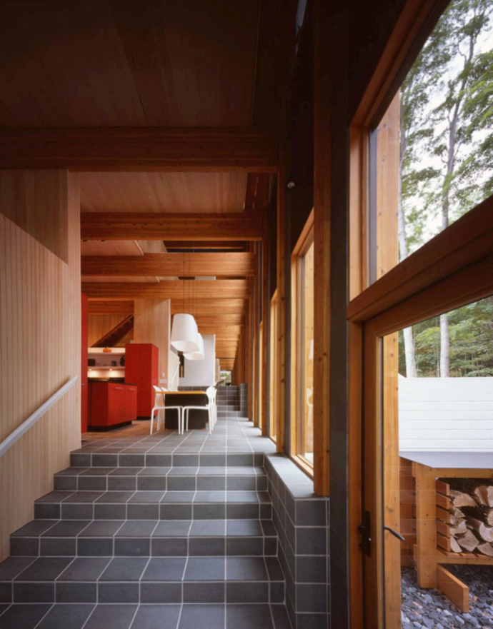 interior design Small Modern Mansions in The Forest - Yingst Retreat by Salmela Architect