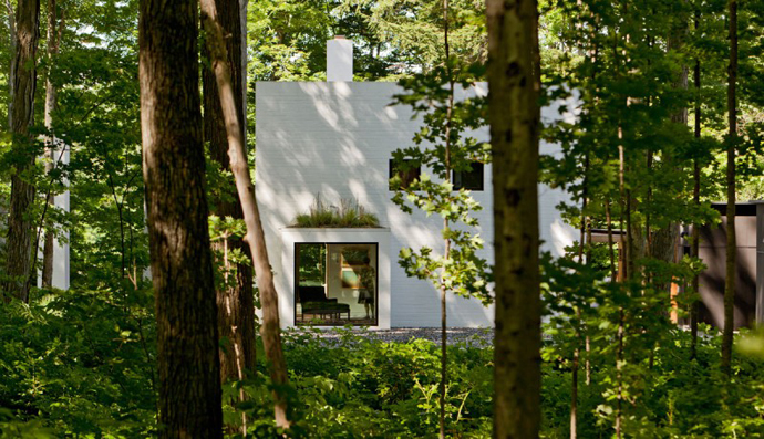 Small Modern Mansions in The Forest - Yingst Retreat by Salmela Architect in the wild