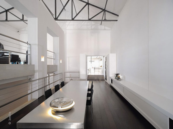 Water Cleaning Station Transformed in a Impecable Modern Mansion homesthetics (1) white and black
