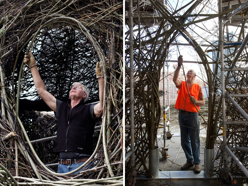Experimental Art: Willow Tree Saplings Cathedral by Patrick Dougherty