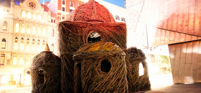 Experimental Art: Willow Tree Saplings Cathedral by Patrick Dougherty modern art