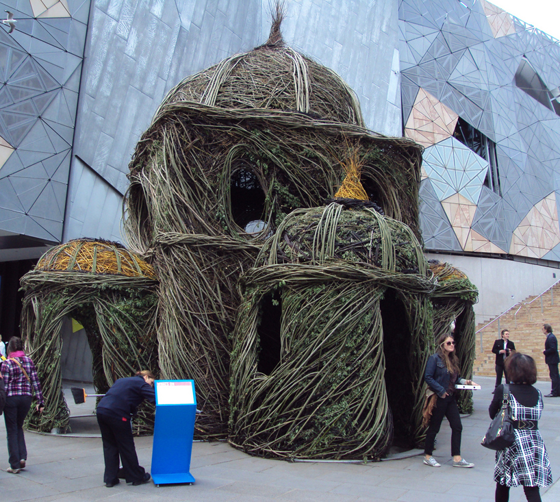 Experimental Art: Willow Tree Saplings Cathedral by Patrick Dougherty concept