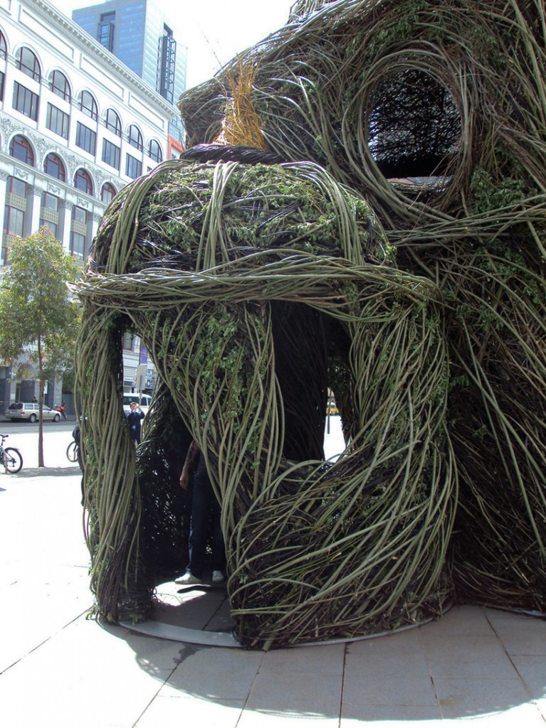 Experimental Art: Willow Tree Saplings Cathedral by Patrick Dougherty unusual art