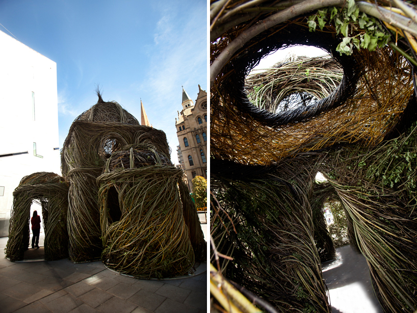 Experimental Art: Willow Tree Saplings Cathedral by Patrick Dougherty installation