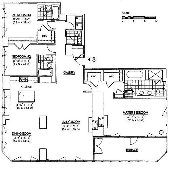 floor plan bueprint Wolf of Wall Street Penthouse Apartment in Manhattan for Sale