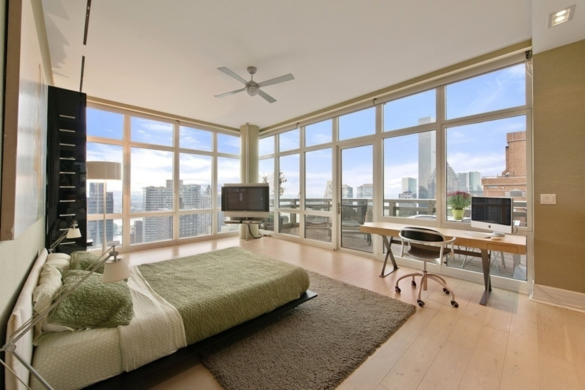 bedroom interior design Wolf of Wall Street Penthouse Apartment in Manhattan for Sale
