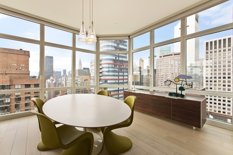 dinning are Wolf of Wall Street Penthouse Apartment in Manhattan for Sale
