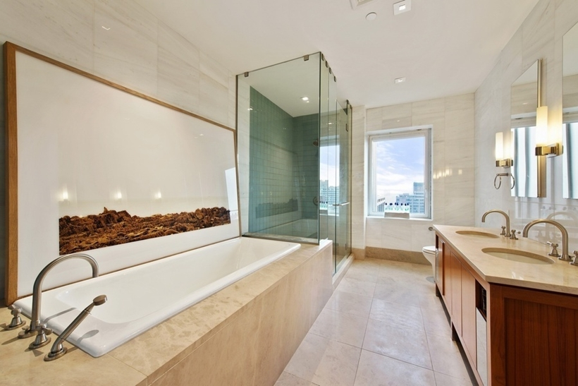 small bathroom interior design Wolf of Wall Street Penthouse Apartment in Manhattan for Sale