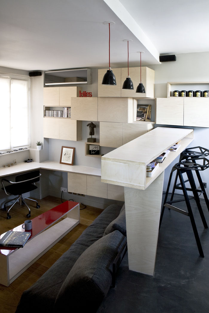 modern Small Room Design 16m² Apartment in Paris by Marc BaillargeonJulie Nabucet homesthetics design 1