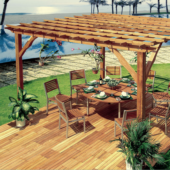 beautiful drawing of a 40+ Pergola Designs Meant to Transform Your Backyard Landscaping Into a Green Heaven