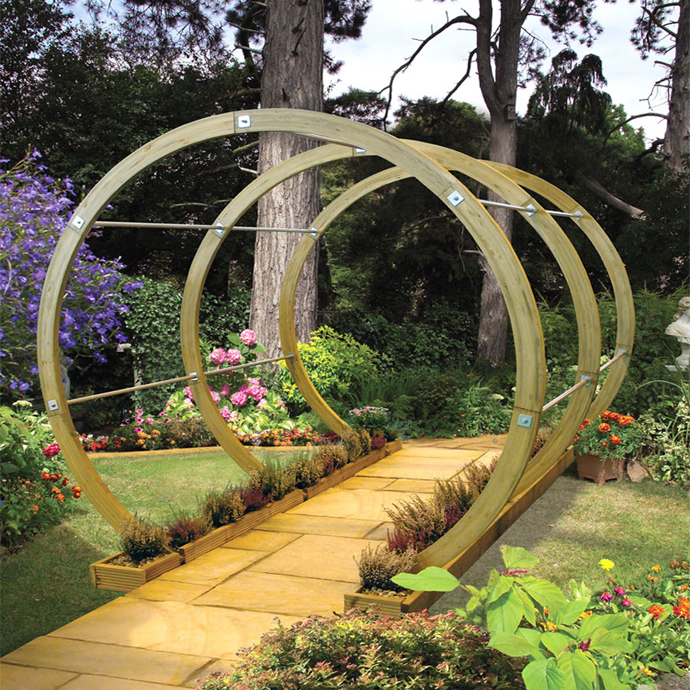 circular round 40+ Pergola Designs Meant to Transform Your Backyard Landscaping Into a Green Heaven