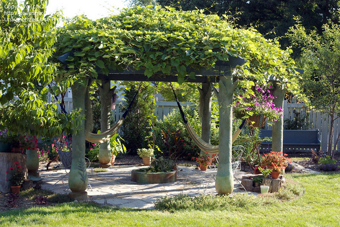 vegetation in 40+ Pergola Designs Meant to Transform Your Backyard Landscaping Into a Green Heaven