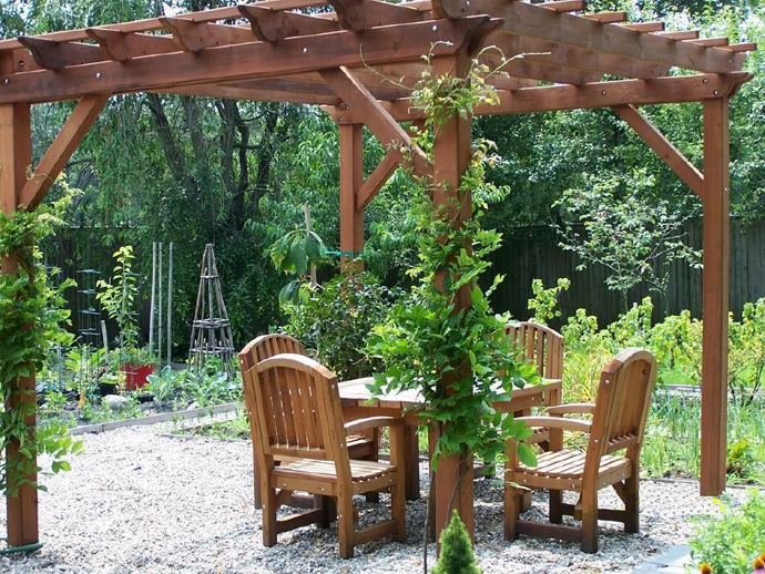green vegetation on 40+ Pergola Designs Meant to Transform Your Backyard Landscaping Into a Green Heaven