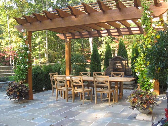 simple and calm 40+ Pergola Designs Meant to Transform Your Backyard Landscaping Into a Green Heaven