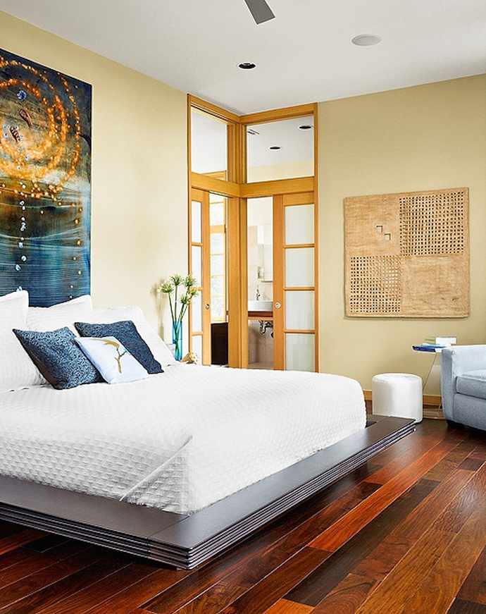 small bedroom interior design Asian Influences in Modern Mansion- Tarrytown Residence by Webber + Studio, Architects