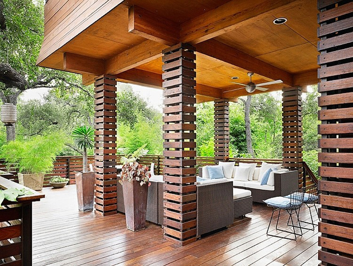 prefct pergola designs patio terrace Asian Influences in Modern Mansion- Tarrytown Residence by Webber + Studio, Architects