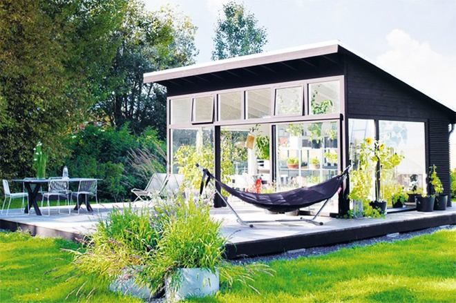 Backyard Landscaping Ideas Garden Shed in Black and White Featuring Classical Scandinavian Design homesthetics studio 1