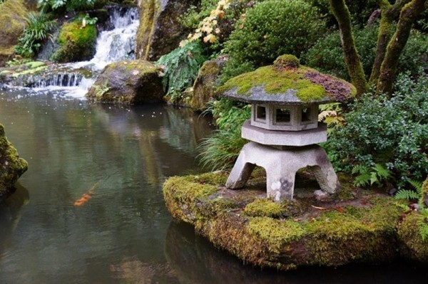 backyard landscaping ideas japanese gardens lantern - Garden Ideas Japanese