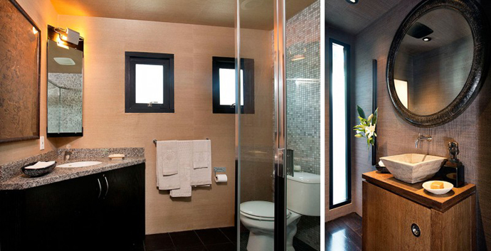 bathroom interior design Contemporary-Traditional Mixture in a Sunset Strip Modern Mansion by Hagy Belzberg