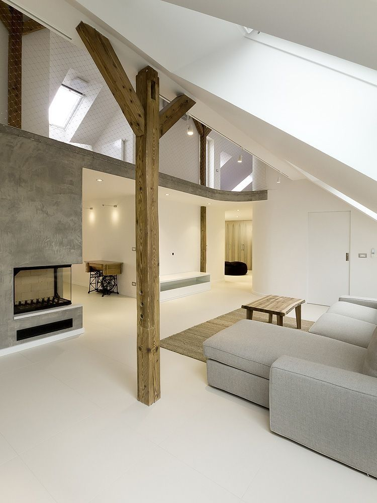 Contemporay Interior Design in Round Loft in Prague by A1 Architects homesthetics modern mansions
