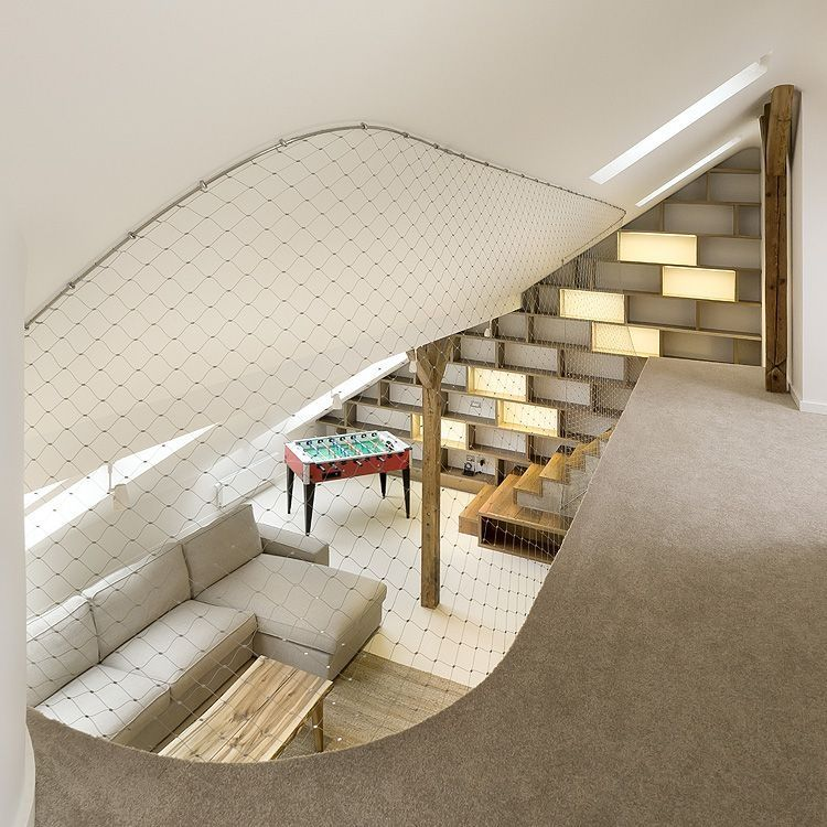 Contemporay Interior Design in Round Loft in Prague by A1 Architects homesthetics simple