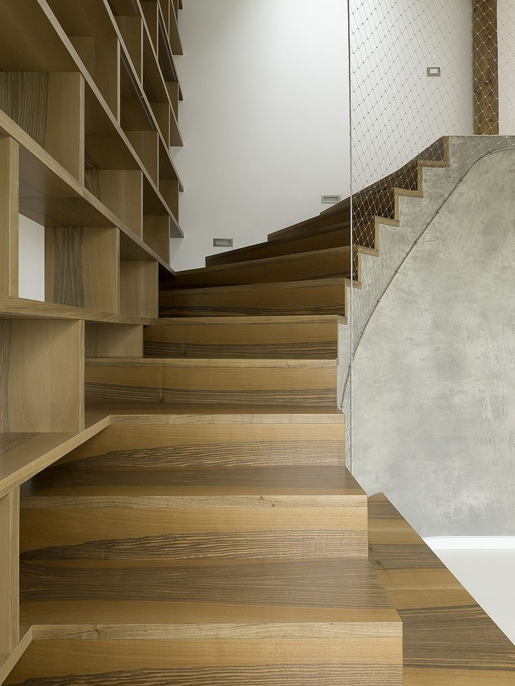 Contemporay Interior Design in Round Loft in Prague by A1 Architects homesthetics staircase design